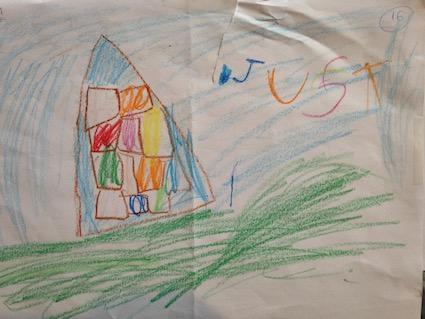 """Casa colorida""(Rosa M1)"