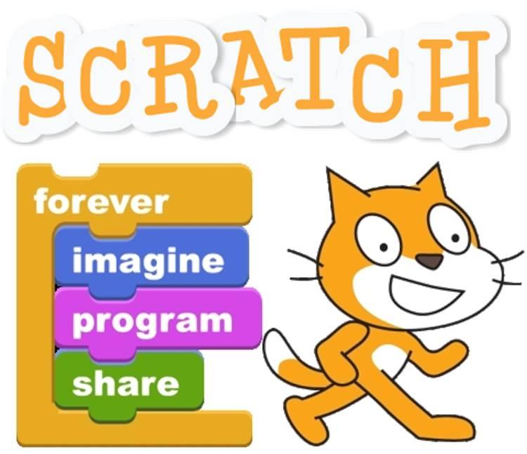 A plataforma SCRATCH para ensino de programação para crianças.