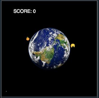 PacMan em volta da Terra