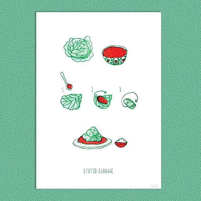 Mimma Nosek | Ratatouille - Lecsó | A3 risograph print . . . #thebrodycollection #instapicture #pictureoftheday #artoftheday #artistoftheday #risograph #risographprint #risography #limitededitionprints #mimmanosek #magyarkonyha #cooking #hungarianfood #ratatouille #lecsó #riso #recipe #foodprint #art #budapestart #dailyart #brodyartyard