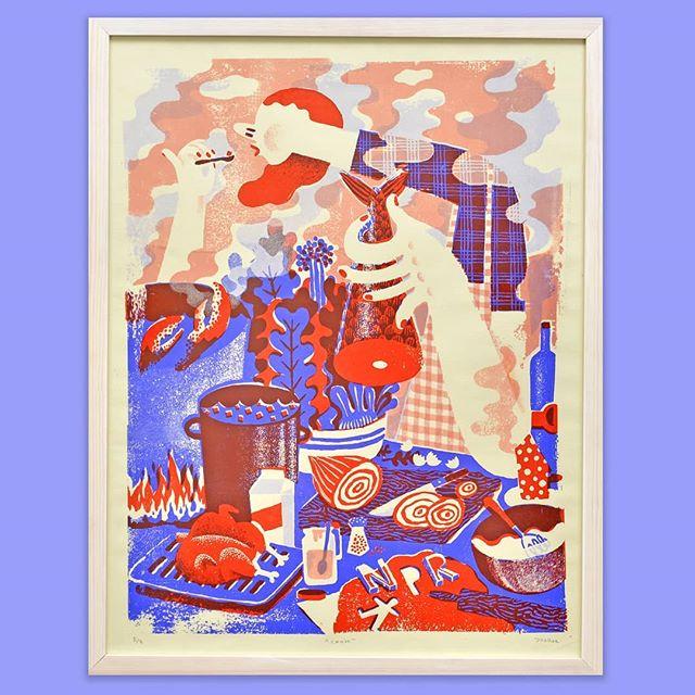 Joohee Yoon | Untitled | A3 risograph print . . . #thebrodycollection#instapicture #pictureoftheday #artoftheday #artistoftheday #risograph #risographprint #risography #limitededitionprints #jooheeyoon #magyarkonyha #cooking #kitchen #chicken #fish #riso #recipe #foodprint #art #budapestart #dailyart #brodyartyard