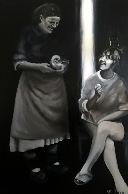 Dilemma , 2017  oil on canvas 72 x 48 inches