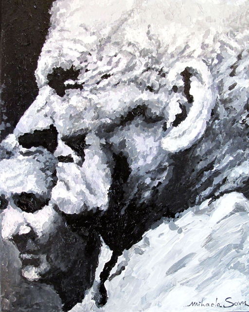 Grandparents  acrylic on canvas 20 x 16 inches