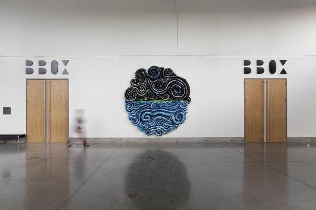 Lost at Sea, Salobreña Mon Amour , 2012 aluminum, tulle and iron 12 x 12 x 3 feet