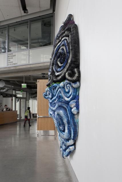 Lost at Sea, Salobreña Mon Amour , 2012 aluminum, tulle and iron 12 x 12 x 3 feet (detail)