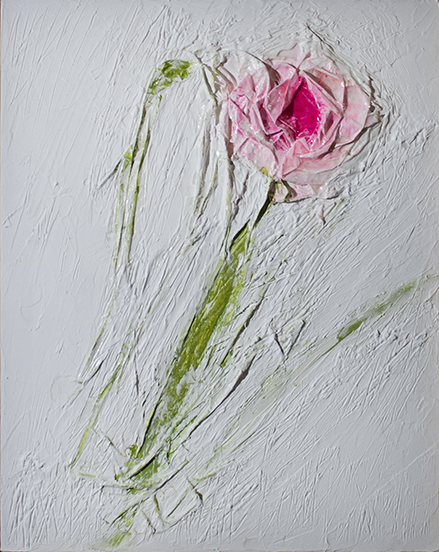 Rose  mixed media 20 x 16 inches