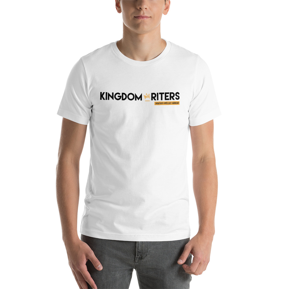 Kingdom Writers White Logo Tee   $20.00