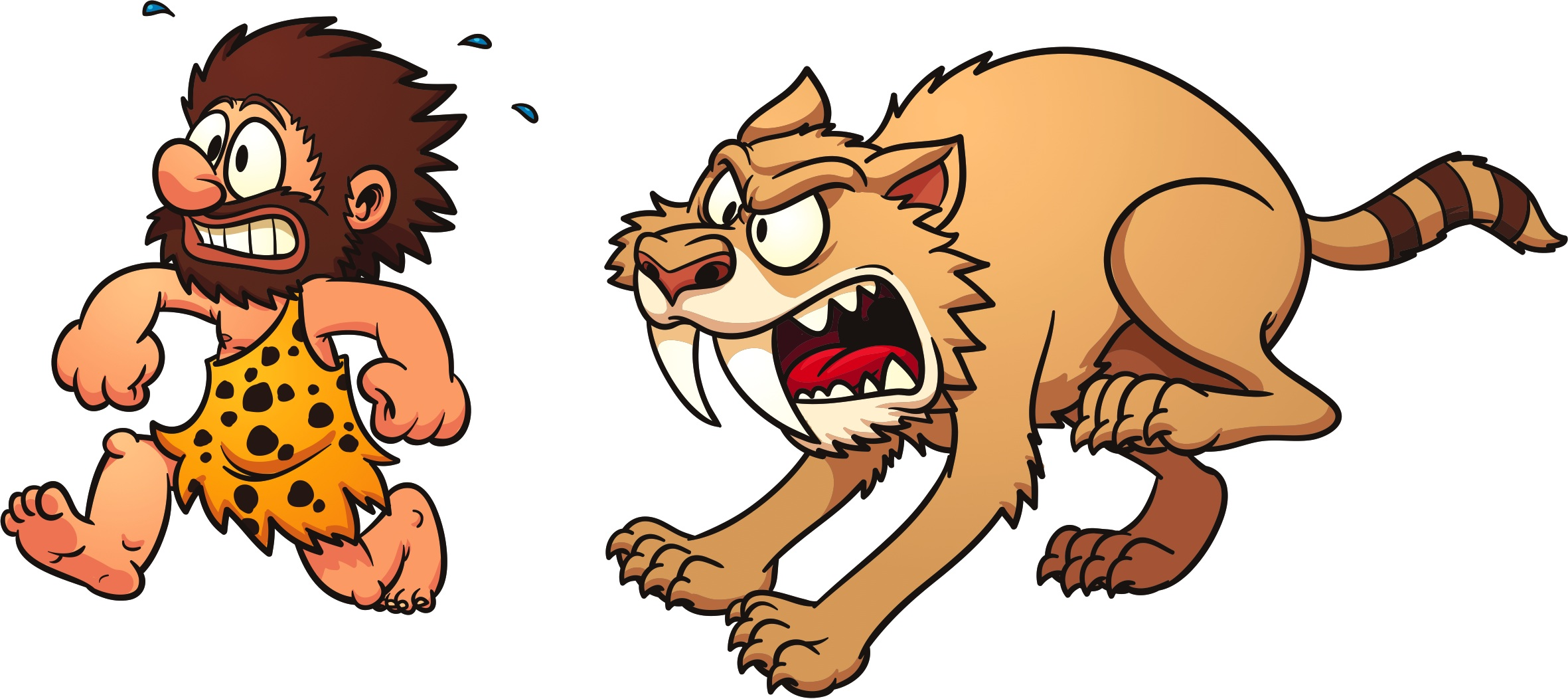 caveman tiger fight or flight (flight).jpg