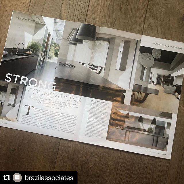 #Repost @brazilassociates  Delighted to have our restoration of this Victorian home with contemporary extension featured in @theglossmag this weekend. Careful attention to detail was required to create this minimalist architectural space, with exposed raw concrete, bespoke steel glazed doors and fenestration complimented by the large wide oak timber flooring. Collab @studiobrazilinteriors @porterandjones @roisinlaffertykld