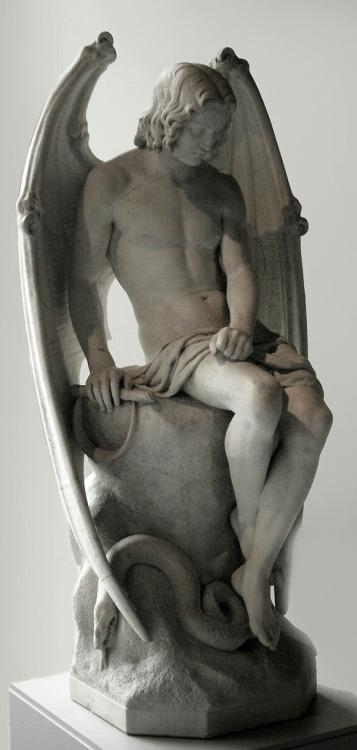 L'ange du mal  (1842) by Joseph Geefs