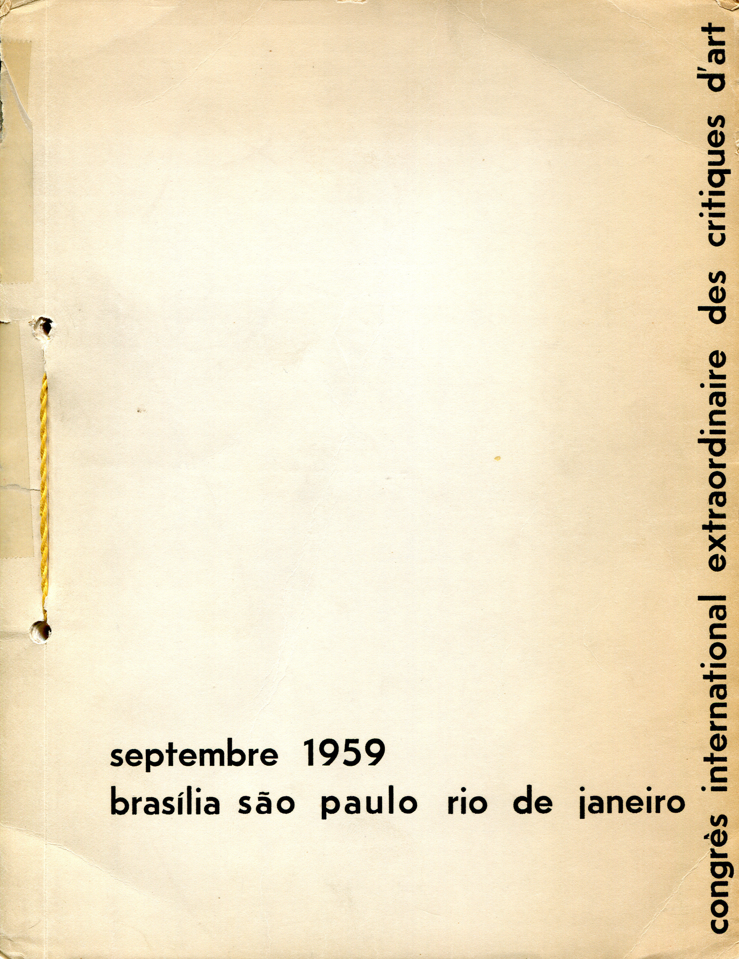 Ecole D Architecture De Brest the origins of the brazilian association of art critics and