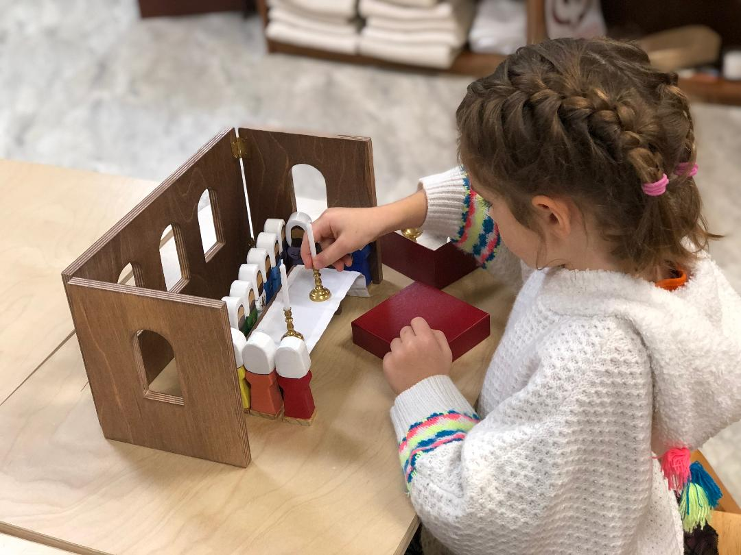 Catechesis of the Good Shepherd: faith formation for children age 3 through sixth grade - Hands-on faith formation classes based on the Montessori method of learningClasses meet weeklyRegistration required