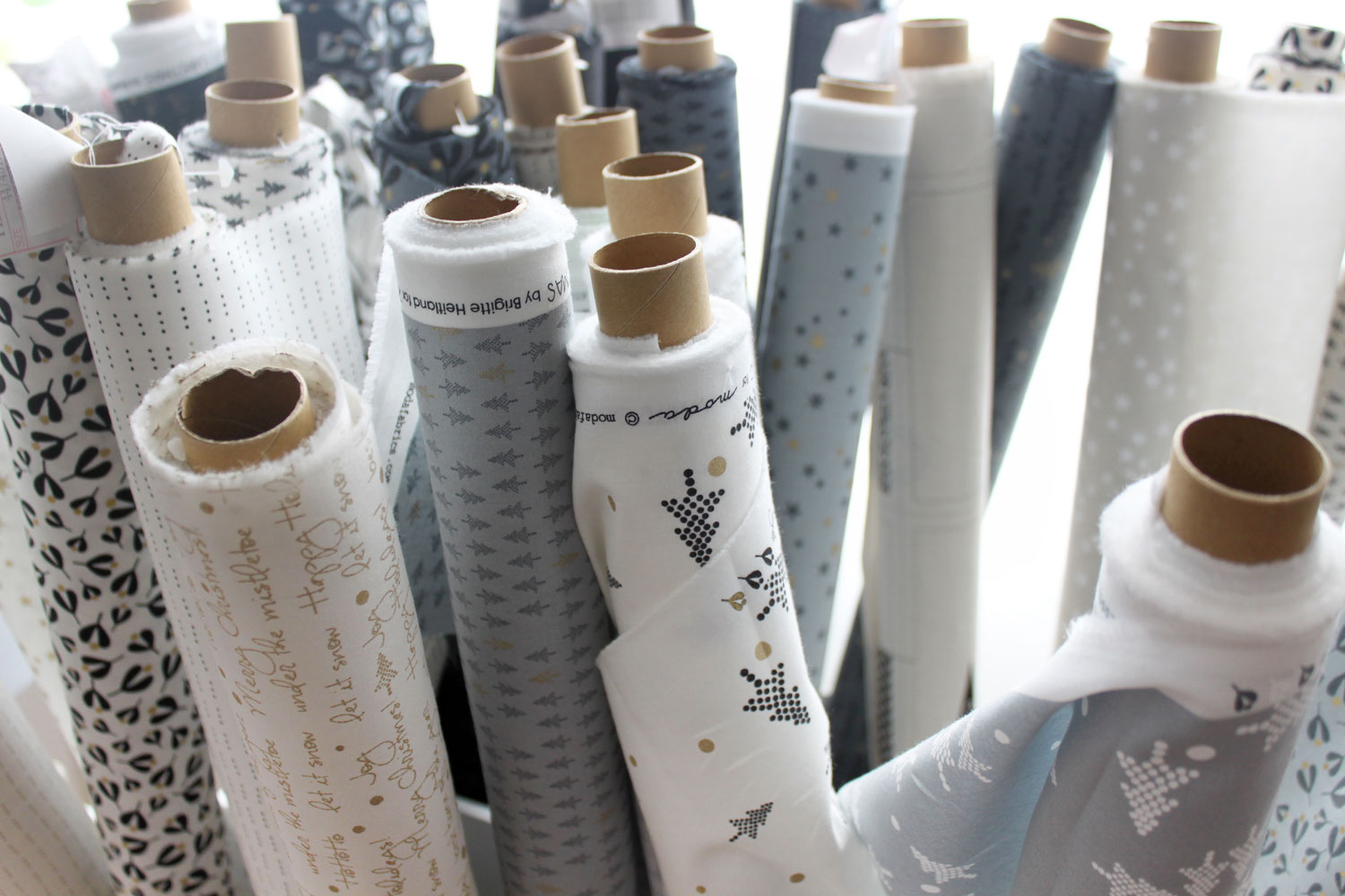 WHITE CHRISTMAS fabrics have hit stores these days