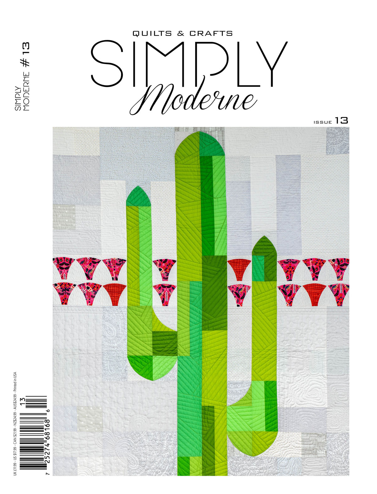 Simply Modern No 13, a Quiltmania magazine filled with 13 modern quilt projects