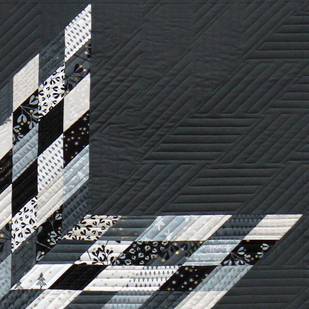 Modern straight line quilting for a Lone Star Quilt Quiltpatttern Mega Star by Zen Chic