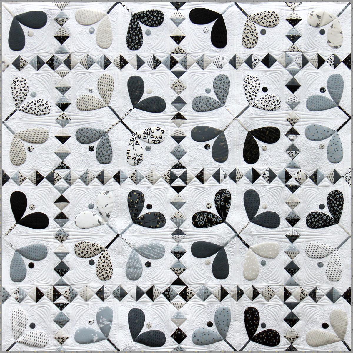 A Modern Applique Christmas Quilt Blockheads 2018 Block 10