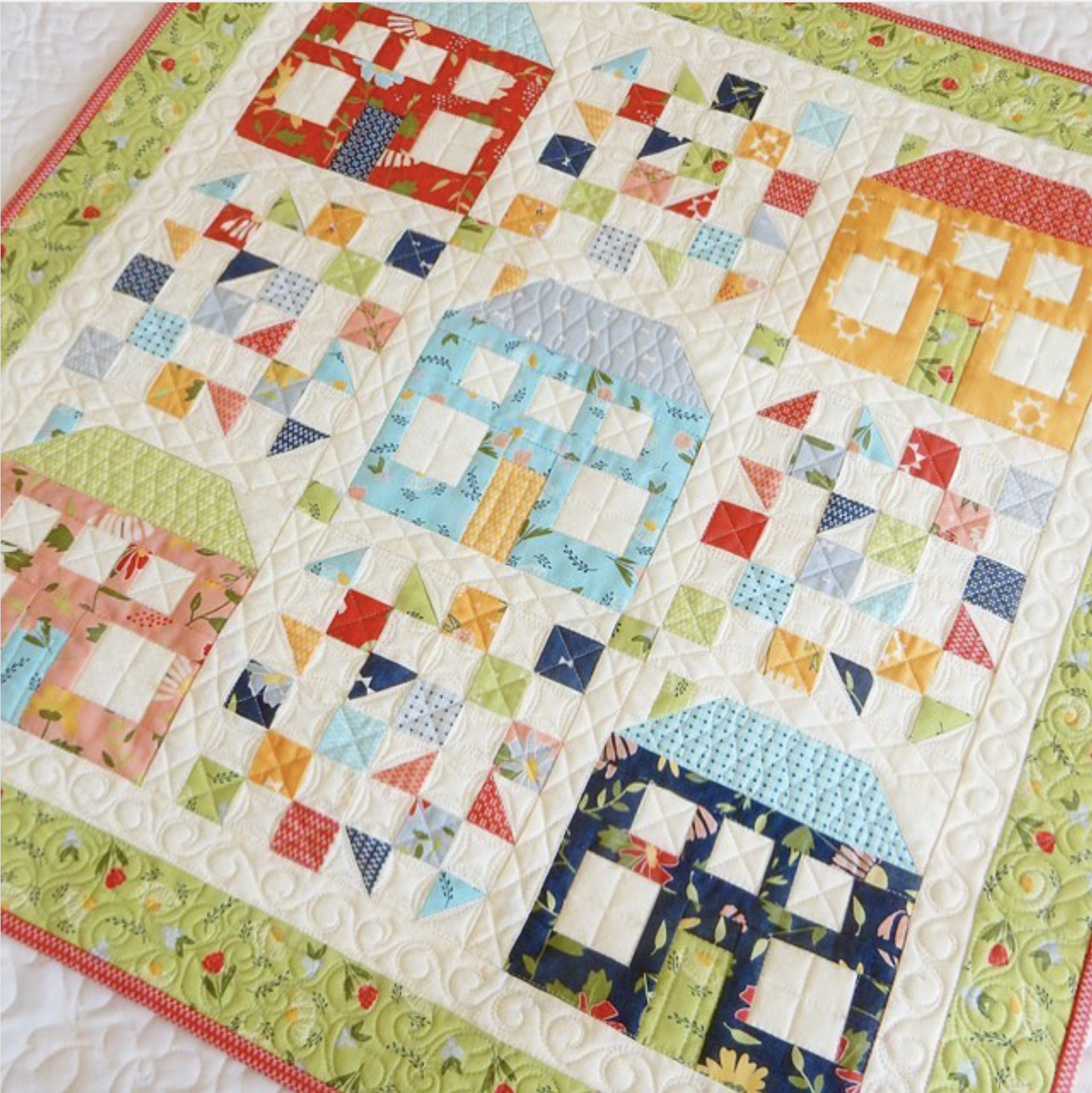 Sherri McConnell's Be My Neighbor quilt pattern, available at her Etsy Shop