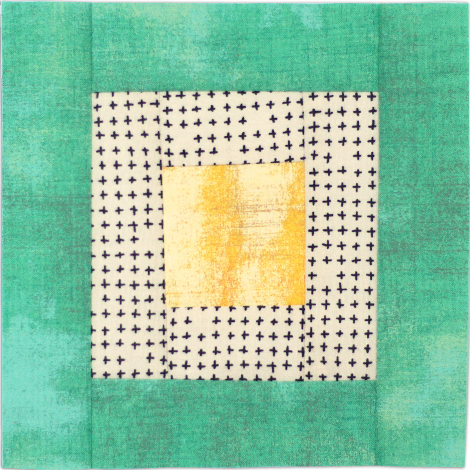 Free quilt along Blockheads 2018, Block 29: Courthouse Step Fabrics used in the block are from Moda, Basic Grey GRUNGE and Zen Chic PAPER