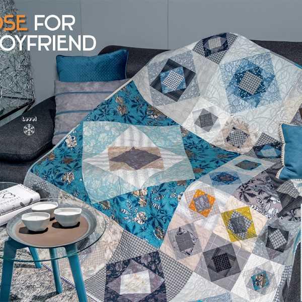 Modern Quilt Pattern Bundle 2 Quilt Patterns Featuring Indian Hatchet and Windhaven