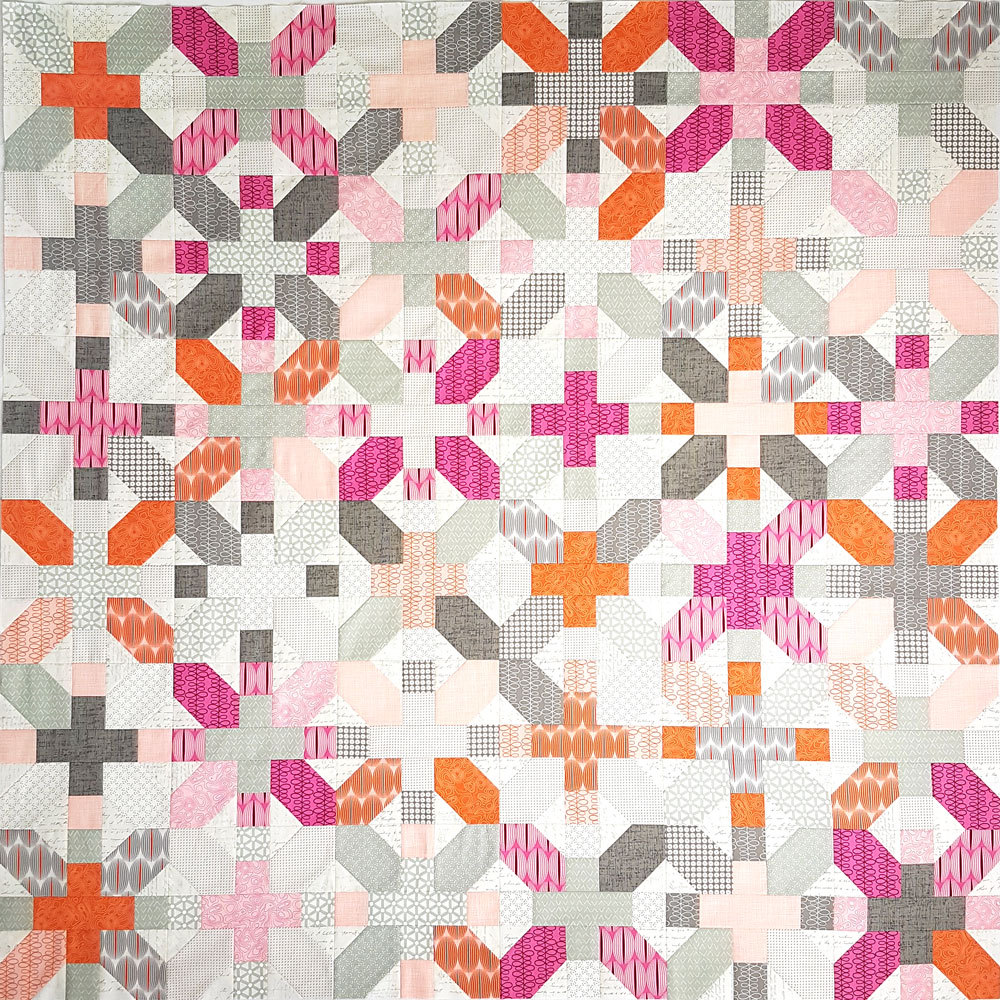 X&+ Quilt Pattern sewn by Gudrun von Ohlen