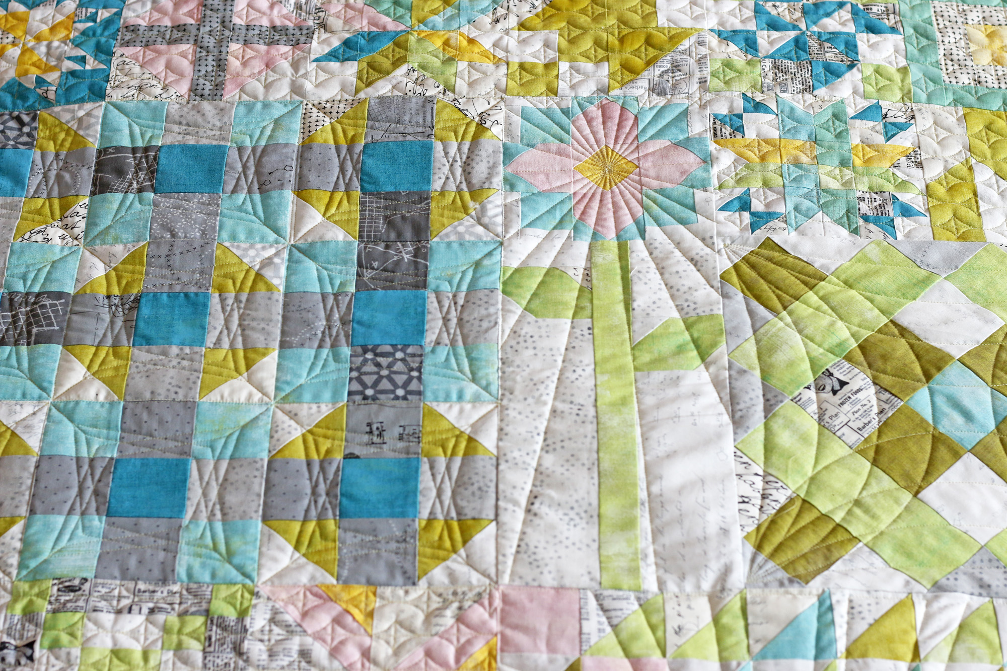 Moda Blockheads flower quilting. Stitched in Color.jpg