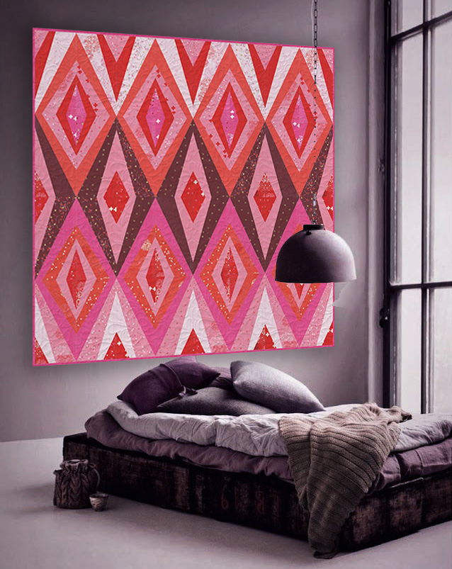 The Red Diamonds pattern from Zen Chic is a stylish, beautiful way to display the Just Red fabric collection.