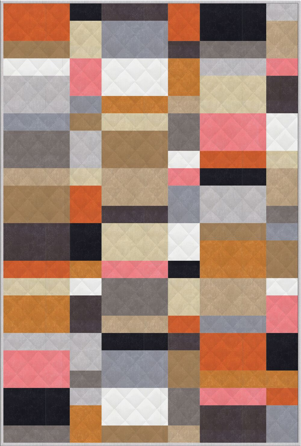 The neutral colors added to Zen Chic's 2019 Spotted collection are a perfect fit for this free quilt pattern, In Color, also from Zen Chic.
