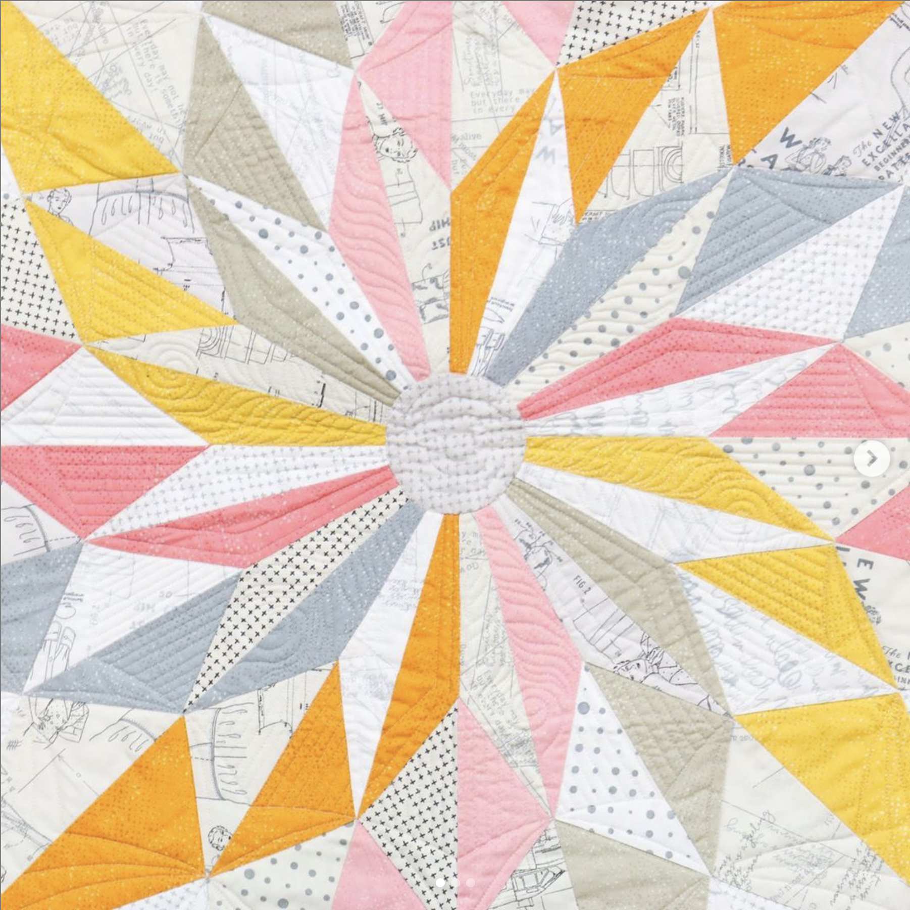 Zen Chic's Winter Star quilt was an exclusive project done for Rhinetex.