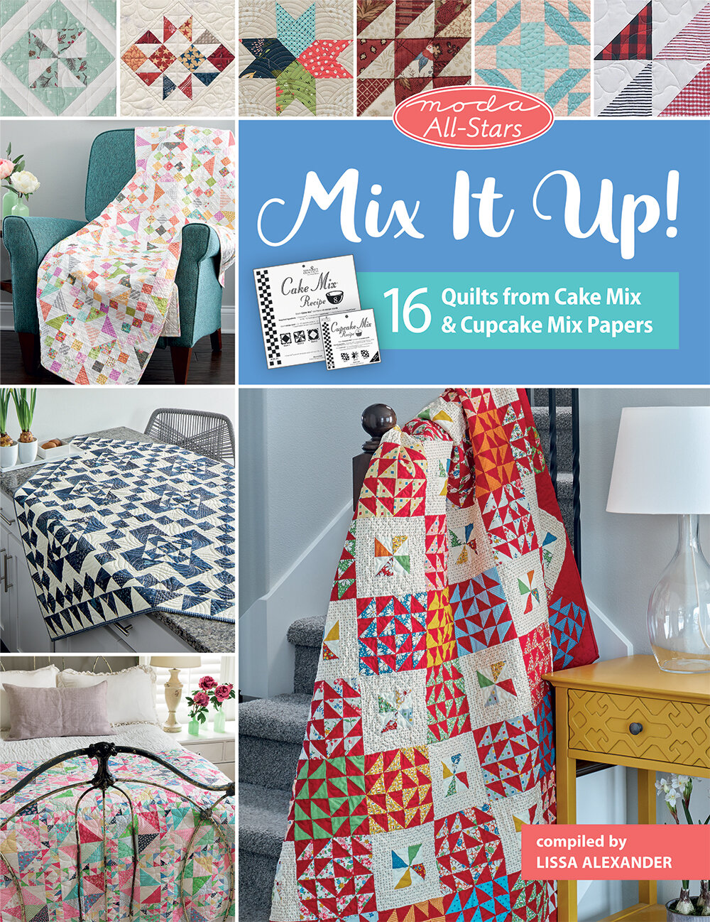 Martingale's new book, Moda All Stars: Mix It Up! includes a quilt sewn by Brigitte Heitland of Zen Chic and created with one of its sixteen Cake Mix recipes.