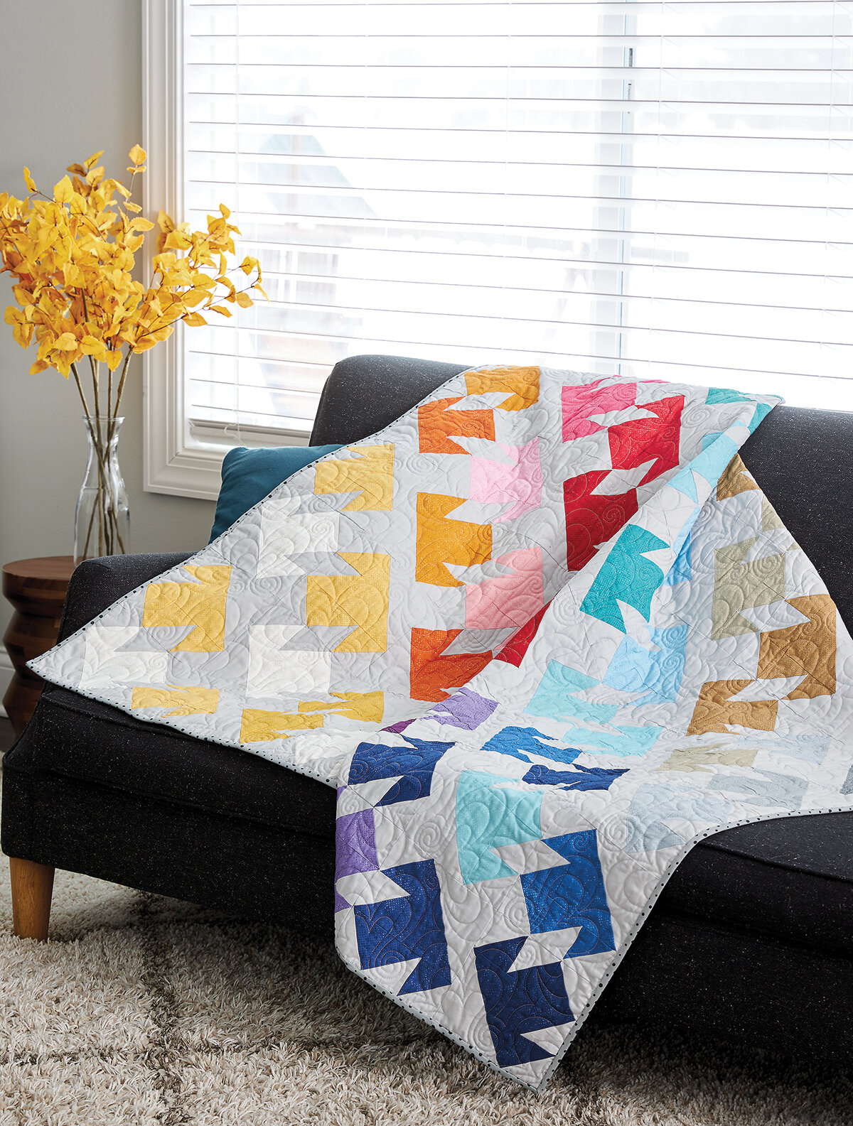 The All My Ts quilt sewn by Brigitte Heitland of Zen Chic for Martingale's book, Moda All Stars: Mix It Up!