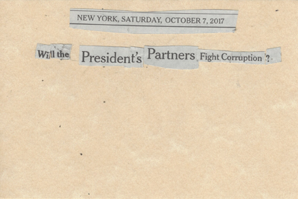October 7, 2017 Will the President's Partners Fight Corruption? SMFL.jpg