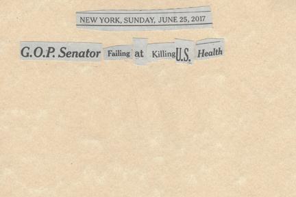 June 25, 2017 GOP Senator Failing at Killing US Health SMFL.jpg