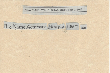 October 11, 2017 Big-Name Actresses Flee From Blow to Face SMFL.jpg