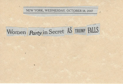 October 18, 2017,Women Party in Secret as Trump Falls SMFL.jpg