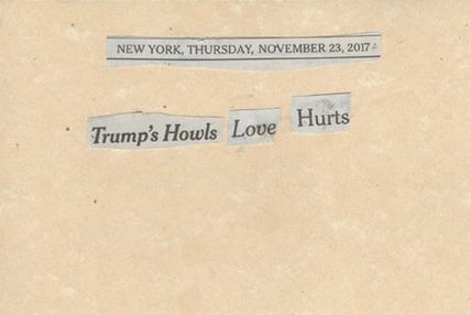 November 23, 2017, Trump Howls Love Hurts SMFL.jpg