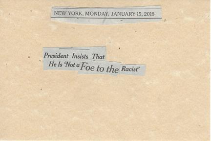 January 15, 2018 President Insists He is Not a Foe to the Racist SMFL.jpg