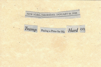 January 18, 2018 Trump Paying a Price for HIs Hard On SMFL.jpg