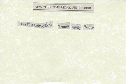 June 7, 2018 The first lady to keep Trump family riches  SMFL.jpg