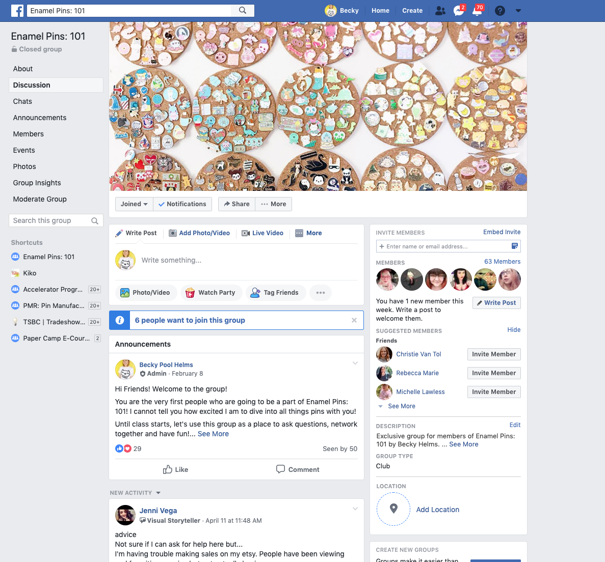 Private Facebook Group Community