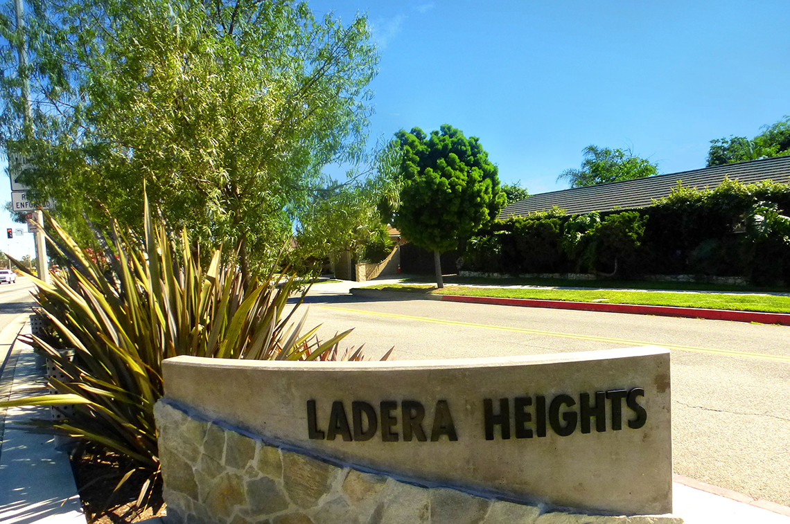 Ladera Heights   A neighborhood in the unincorporated region of the city of Los Angeles, California. The population was 6,498 at the 2010 census. Culver City lies to its west, the Baldwin Hills neighborhood to its north, and the Westchester neighborhood to its south and southwest.