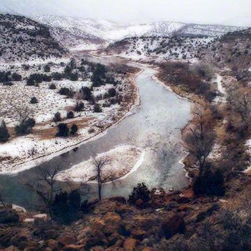 Snowfall on the Chama 16x16.jpg