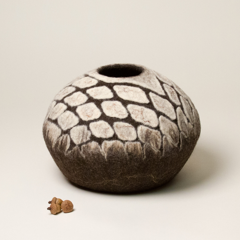 Sculptural Felt Vessel by Karen Waters
