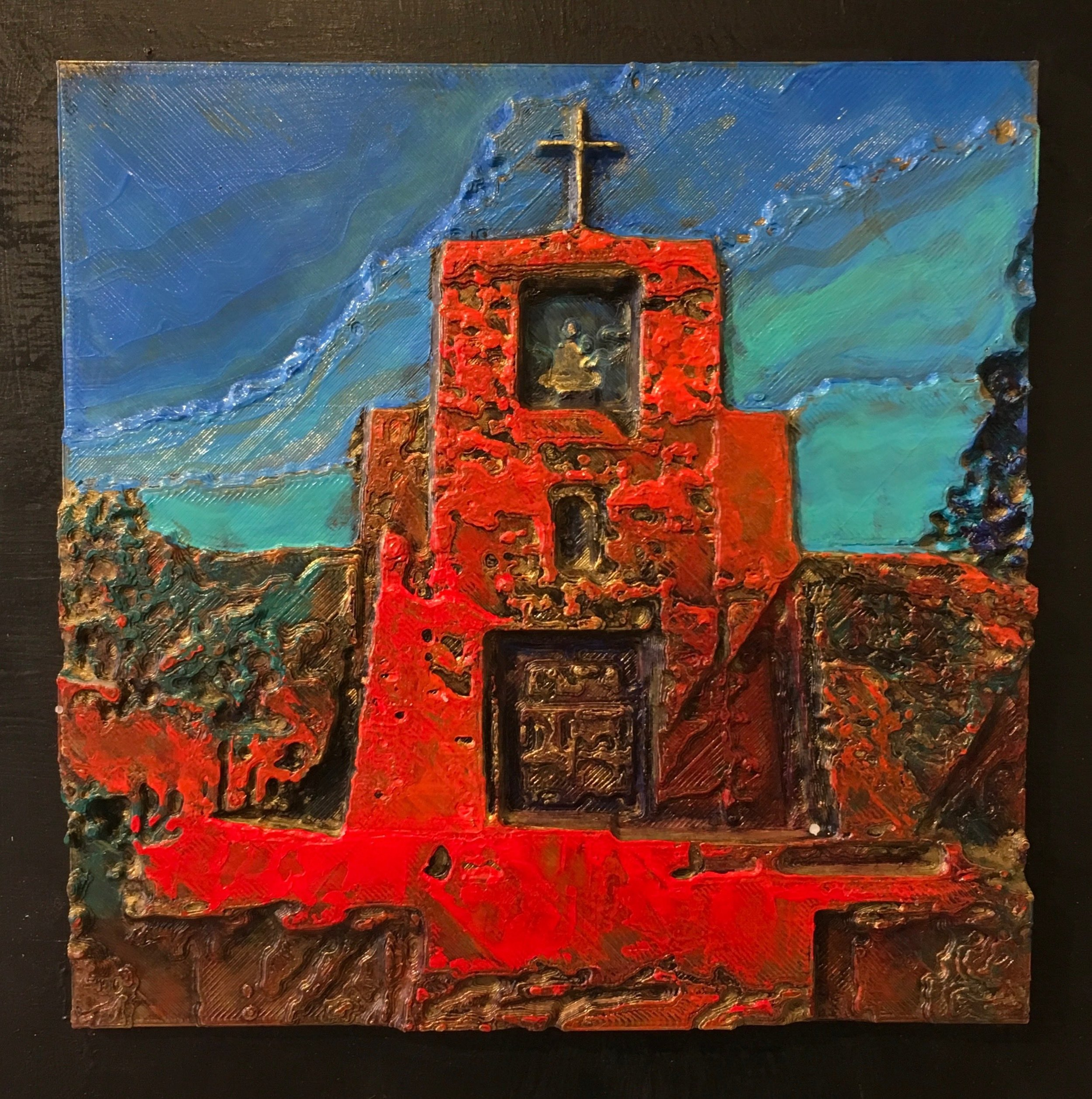 San Miguel Reimagined Acrylic on 3D Print 12x12, 2020.jpg