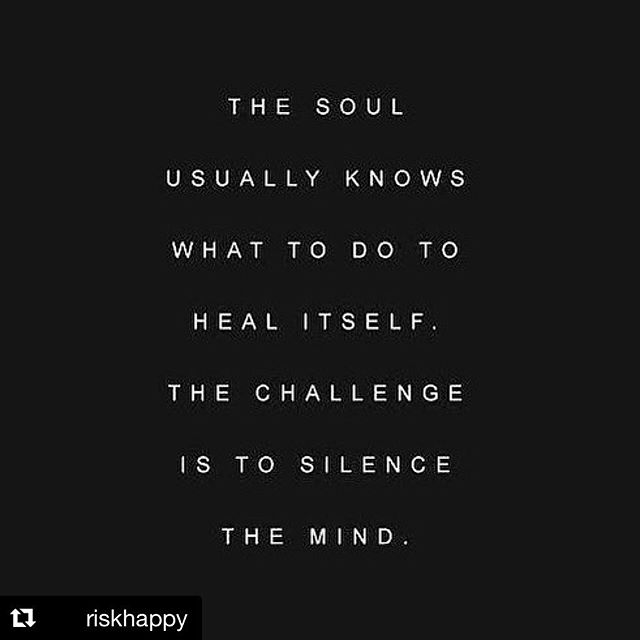 """ In solitude there is healing. Speak to your soul. Listen to your heart. The answers are often found in the absence of noise."" - Dodinsky #riskhappy. . . . . #mindfulness #meditation #happiness #soul #clarity #calm #peace #happiness #holistichealth"
