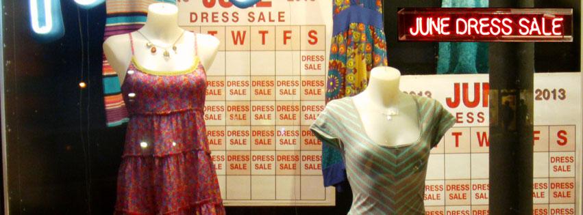 June Dress Sale - June 2013