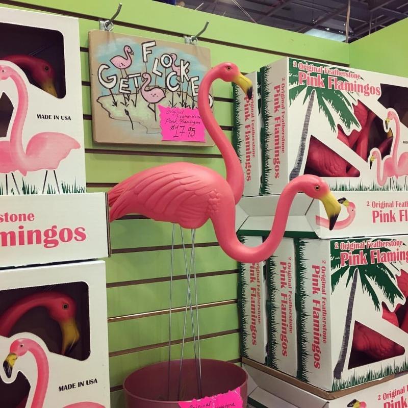 Original Featherstone lawn flamingoes