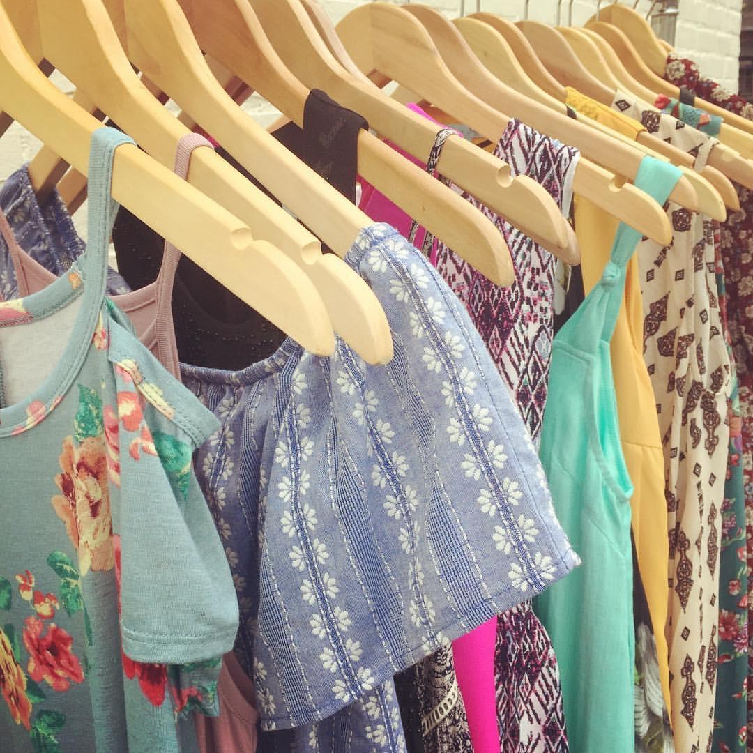 spring clothing on hangers.JPG