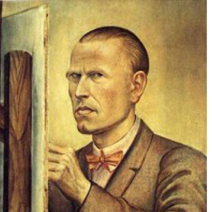 Otto Dix  Self-Portrait with Easel  1926. Leopold-Hoesch-Museum & Papiermuseum Düren. Photo: Peter Hinschläger