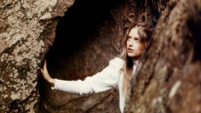 Still from Picnic at Hanging Rock, Anne-Louise Lambert as Miranda, dir. Peter Weir, 1975
