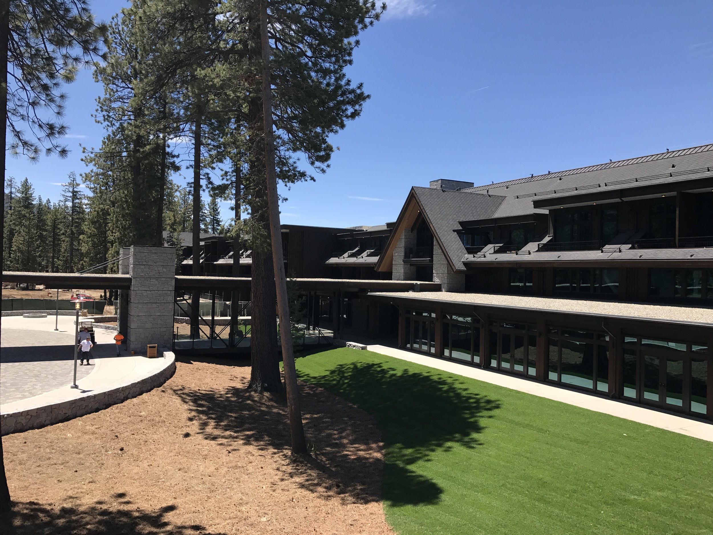 Front entrance of the Lodge.